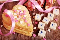 Déclaration d'amour de Valentine Image stock