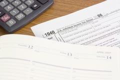 Déclaration d'impôt des USA Photo libre de droits