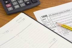 Déclaration d'impôt des USA Image libre de droits