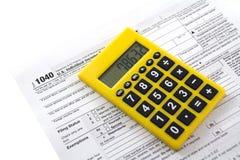 Déclaration d'impôt 1040 Image stock