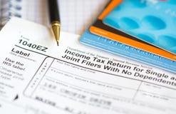 Déclaration d'impôt Image libre de droits