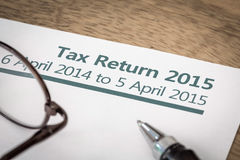 Déclaration d'impôt 2015 Photos libres de droits