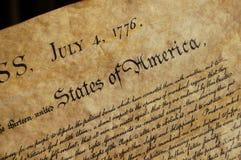 Déclaration d'indépendance Photos stock