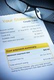 Déclaration de carte de crédit photo libre de droits