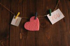 Déclaration de l'amour Photographie stock