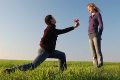 Déclaration de l'amour Photos libres de droits