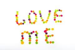Déclaration de l'amour des bonbons pour le jour du ` s de Valentine Photo stock