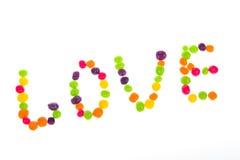 Déclaration de l'amour des bonbons pour le jour du ` s de Valentine Photos stock
