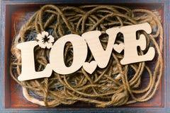Déclaration de l'amour le jour du ` s de Valentine Style de vintage, amour Image libre de droits