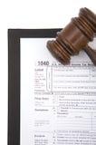 déclaration de l'impôt 1040 Images libres de droits