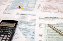 déclaration de l'impôt 1040 Photos stock