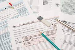 déclaration de l'impôt 1040 Images stock