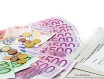 Déclaration de revenu images stock