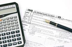 Déclarations d'impôt Image stock