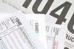 Déclarations d'impôt photographie stock libre de droits