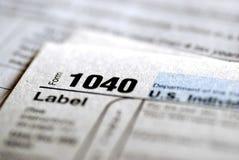 Déclarations d'impôt 2009 images libres de droits