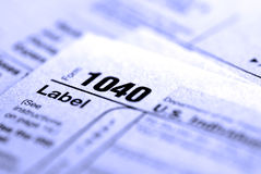 Déclarations d'impôt 2009 Images stock