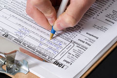 Déclarations d'impôt Images stock