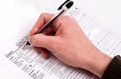 Déclarations d'impôt photo stock