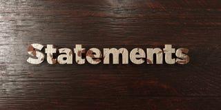 Déclarations - titre en bois sale sur l'érable - image courante gratuite de redevance rendue par 3D illustration de vecteur