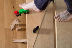 Déclenché au-dessus du jouet de l'enfant photo stock