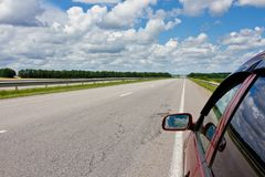 Déclenchement de route d'été photos libres de droits