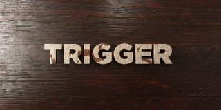 Déclencheur - titre en bois sale sur l'érable - image courante gratuite de redevance rendue par 3D Images libres de droits