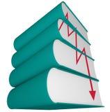 Déclin d'industrie d'édition - ventes en baisse illustration stock