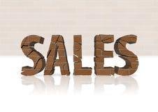 Déclin de ventes de boîtier Photo stock