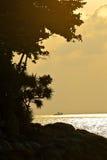 Déclin sur des îles image libre de droits
