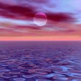 Déclin violet illustration de vecteur