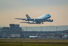 Décollage A380 Images libres de droits