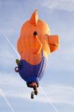 Décollage coloré de ballon de porc Images stock