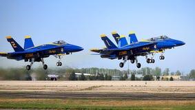 Décollage d'anges bleus Images libres de droits