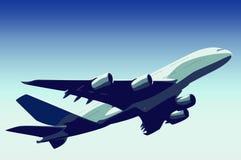 Décollage d'avion Photos stock