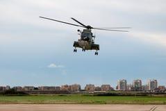 Décollage d'hélicoptère d'Augusta Image stock