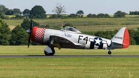 Décollage de chasseurs de coup de foudre de P-47D Image libre de droits