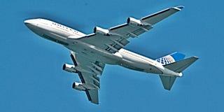 Décollage Frais généraux de Boeing 747-422 à Sydney Image libre de droits