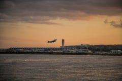Décollage plat de Reagan National Airport Photo libre de droits