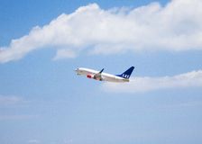 Décollage scandinave de lignes aériennes Images stock