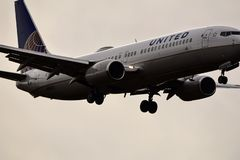 Décollage uni de Boeing photographie stock