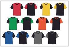 Décolleté en V de T-shirt de calibre de conception, vecteur Photos libres de droits