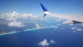 Décollez de l'aéroport de Cancun Image stock