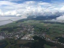 Décollez de l'aéroport international de Zurich Photo stock