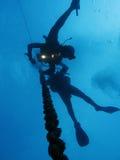 Décompression de plongeurs Image libre de droits