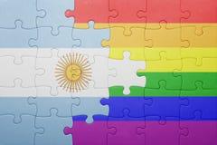 Déconcertez avec le drapeau national de l'Argentine et du drapeau gai Images stock