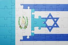 Déconcertez avec le drapeau national de l'Israël et du Guatemala Photo libre de droits