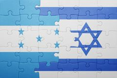 Déconcertez avec le drapeau national de l'Israël et du Honduras Images stock
