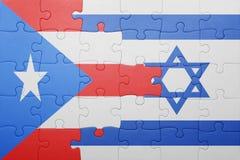 Déconcertez avec le drapeau national de l'Israël et du Porto Rico Images stock