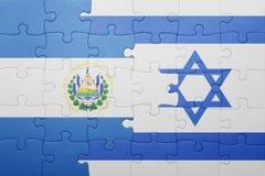 Déconcertez avec le drapeau national de l'Israël et du Salvador Photos libres de droits